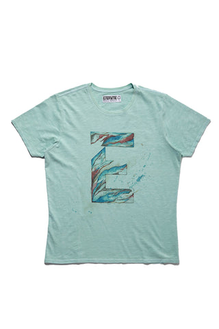 M5031GH01PID Vintage Sea -Graphic 'E' water colour tee