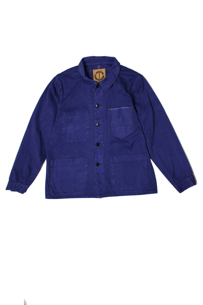 M4092KS01PID-French worker jacket/pigment dyed