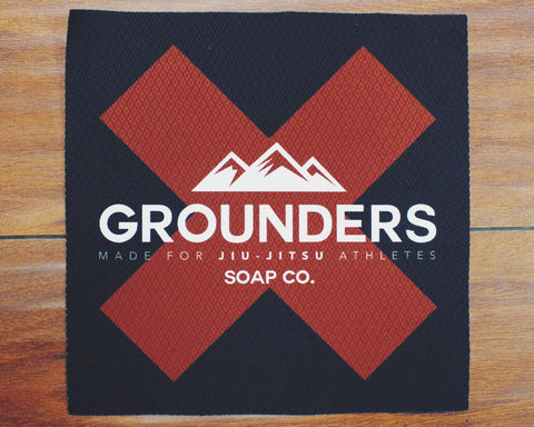 "Grounders ""X"" Jiu-Jitsu Patch - Red & Black"