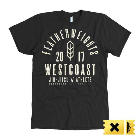 Featherweights Westcoast Jiu-Jitsu Shirt - Black