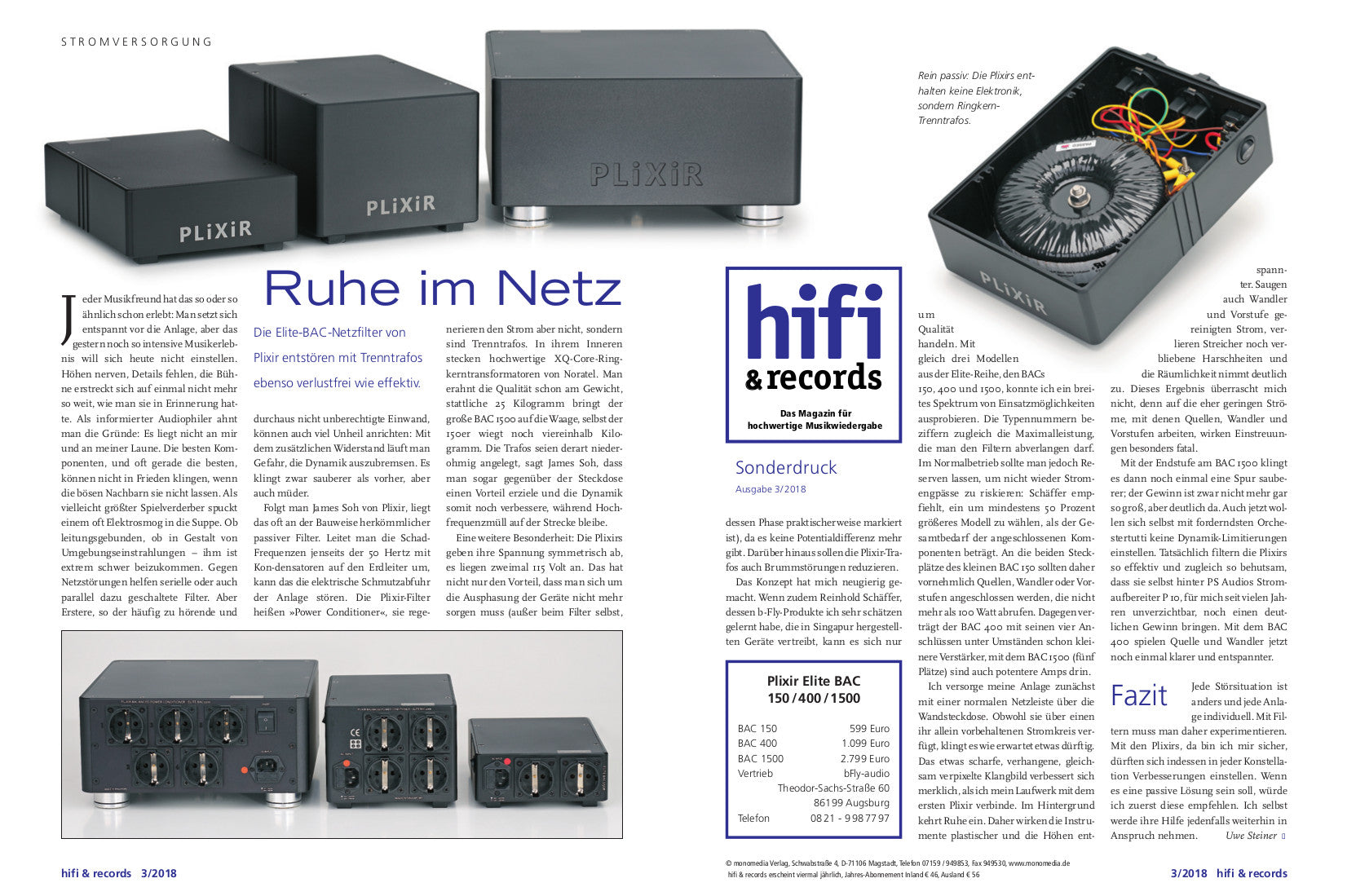 Germany Hifi and Records magazine - March 2018 – Sound Affairs