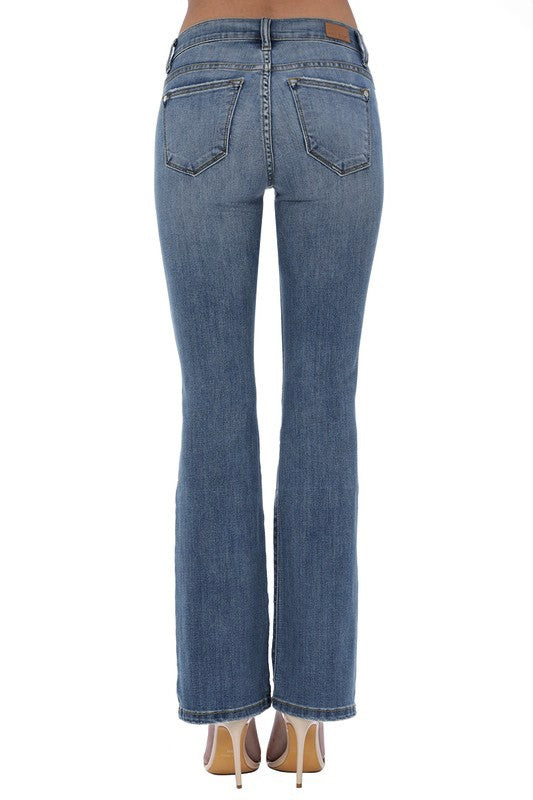 Distressed Bootcut Jeans by Judy Blue