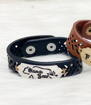 Laser Cut Leather Bracelets