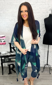 Buffalo Plaid Blocked Cardigan (S-3X)