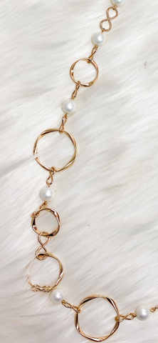 Pearl & Gold Long Necklace