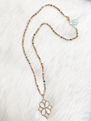 Multi Bead Necklace w/ Pendant