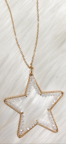 Beaded Star Pendant Necklace (RESTOCKED!)