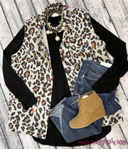Curvy Leopard Print Button Up Vest