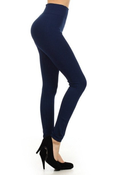 Solid Full Length Leggings - Really Roxie