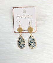 Dalmatian Teardrop Earrings