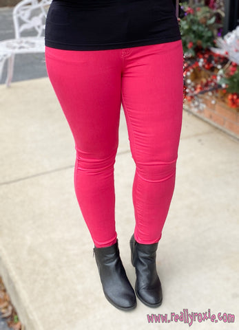 Pretty in Pink Skinny Jeans