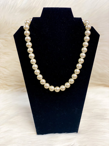 Large Pearl Bead Necklace