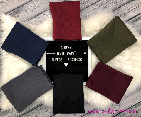 Curvy High Waist Fleece Leggings