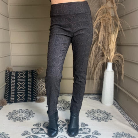 Snakeskin Ankle Pants