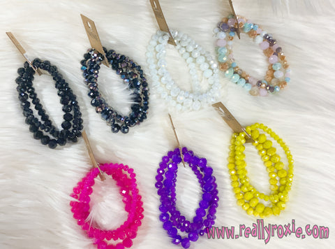 Glass Bead Stretch Bracelets