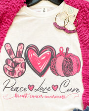 Peace, Love, Cure Tee (S-2X)