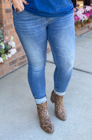 Pin Tacked Skinny Jeans