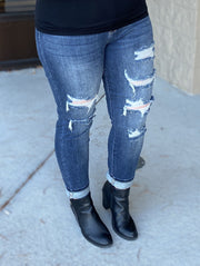 Destroyed High Waisted Boyfriend Jeans