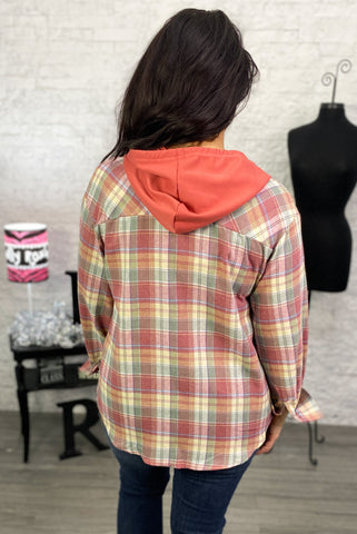 Buffalo Plaid Red Truck Earrings