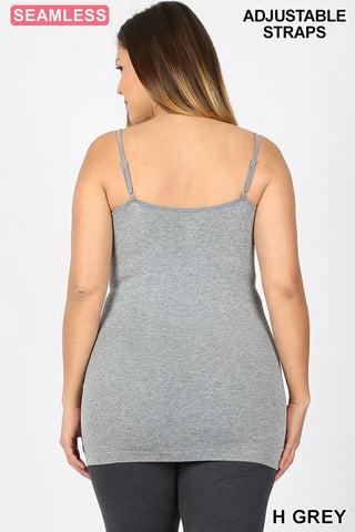 Curvy Webbed Seamless Camis (22 Colors)