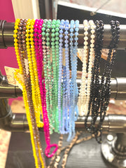 "60"" Glass Bead Necklaces"