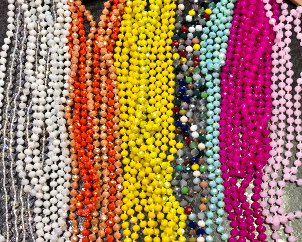 "60"" Glass Bead Necklaces(NEW COLORS!)"