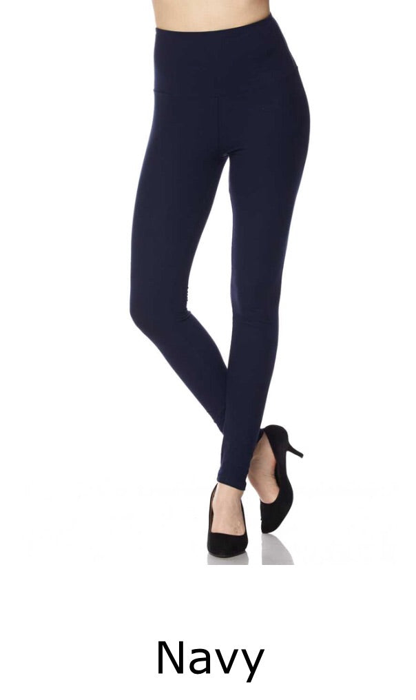 Brushed Full Length Leggings w/Wide Band