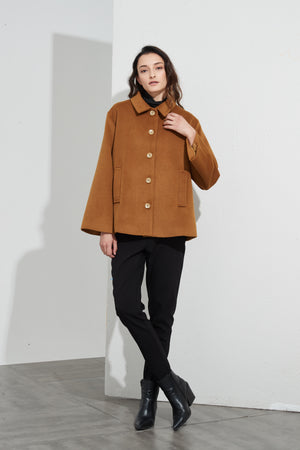 MELTON SWING BACK COAT