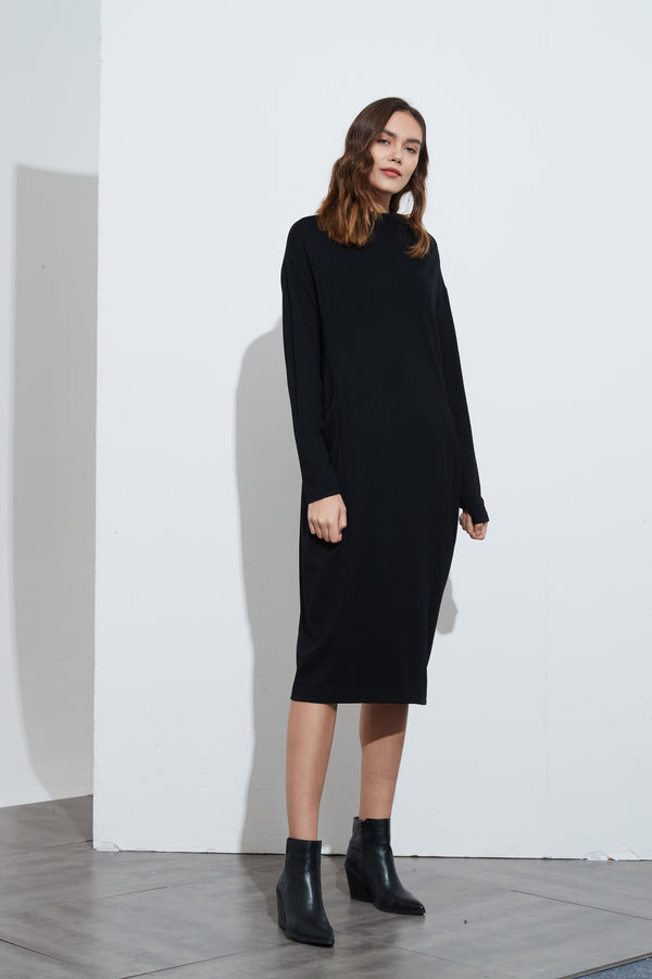 HIGH NECK WINTER DRESS