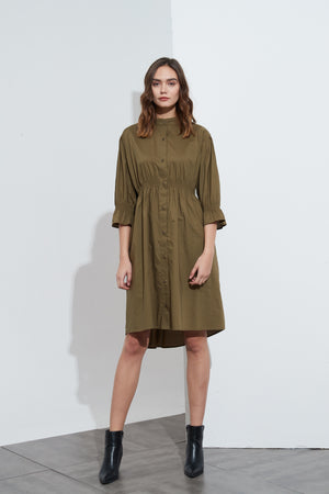 SHIRRING DETAIL DRESS