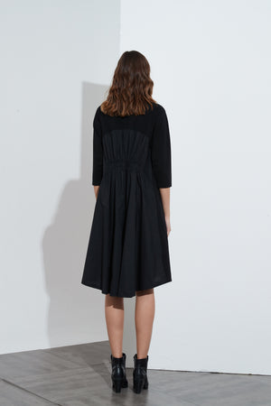 WOVEN BACK DRESS