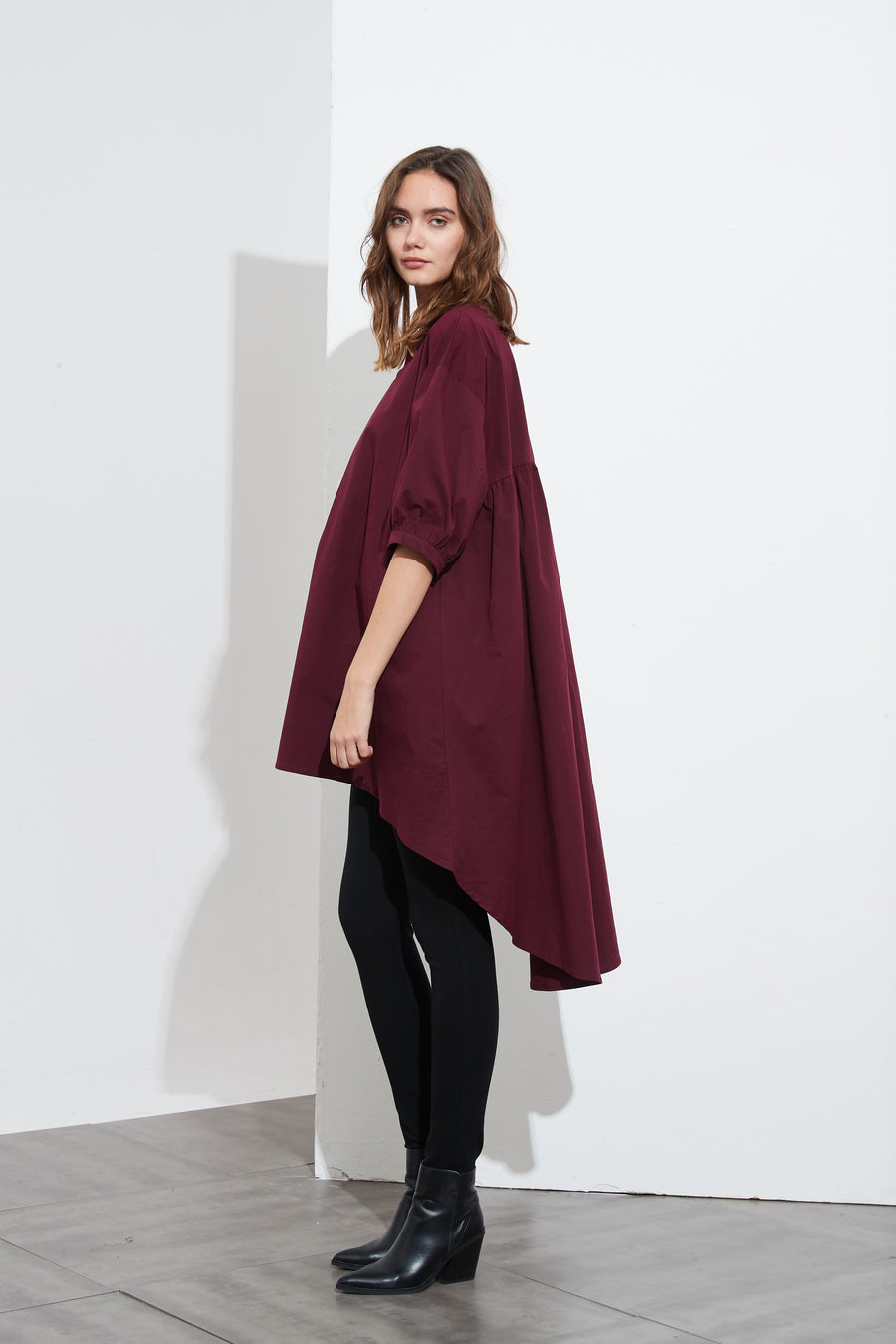 TUCK FRONT TUNIC