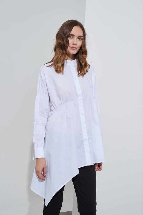SHIRRING DETAIL SHIRT