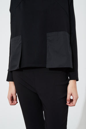 SPLICED FUNNEL NECK TOP