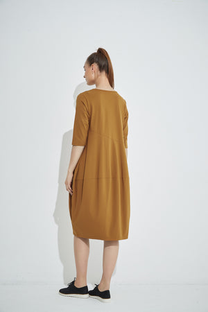 DIAGONAL SEAM DRESS