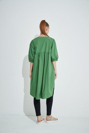 PLEAT FRONT TUNIC