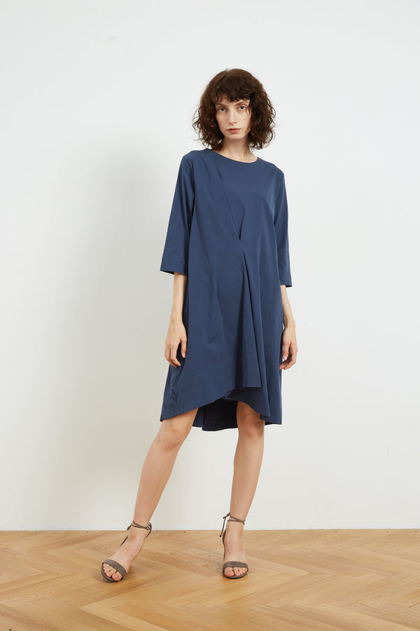 PLEATED LINE DRESS