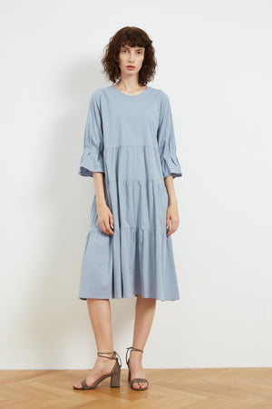 FLARE MID SLEEVE DRESS