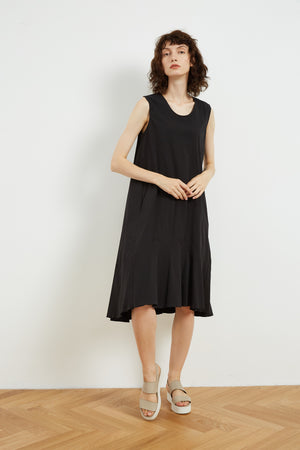 HIGH NECK GATHER DRESS