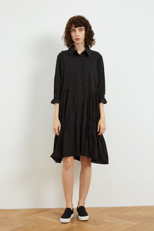 GATHERED SHIRT DRESS