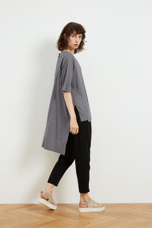 HIGH LOW POCKET TOP