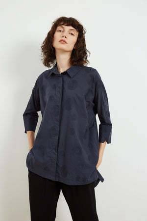 HALF SLEEVE EMBROIDERED SHIRT