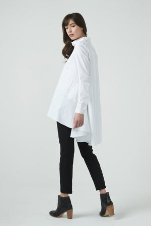 COTTON SWING BACK SHIRT LS