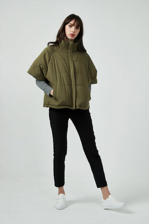 HALF SLEEVE PADDED JACKET