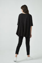 18A80190 METALLIC CURVED HEM TOP (more colours available)