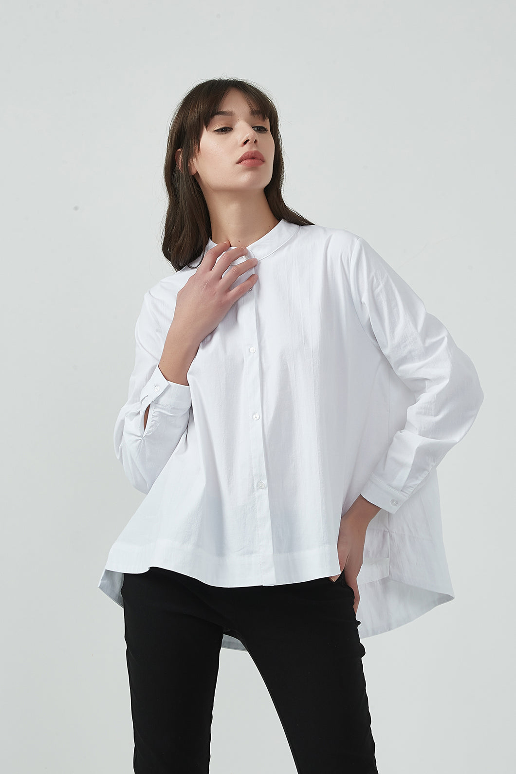 18A8074 CROPPED BUTTON UP SHIRT (more colours available)