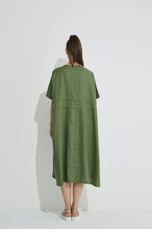 DOUBLE DRAWCORD DRESS