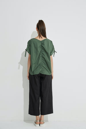 DRAWCORD SLEEVE TOP