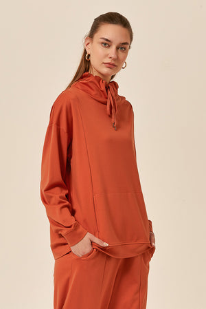 TIE NECK SWEAT TOP