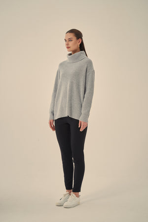 DEEP COWL NECK PULLOVER